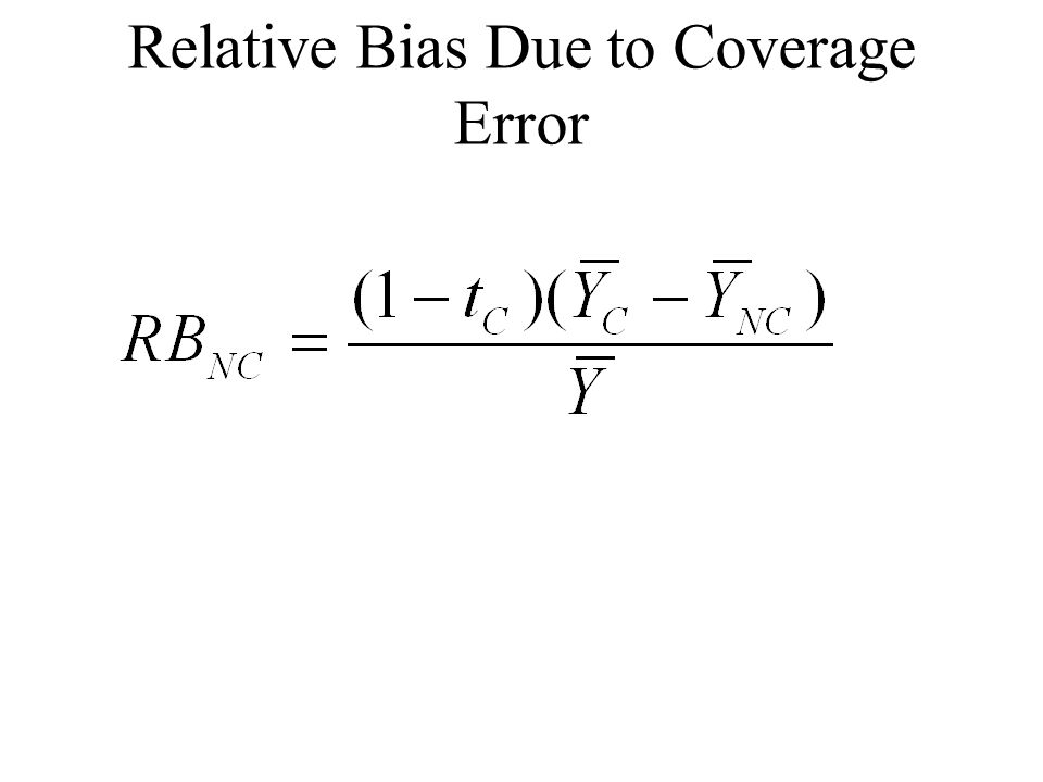 Relative Bias Due to Coverage Error