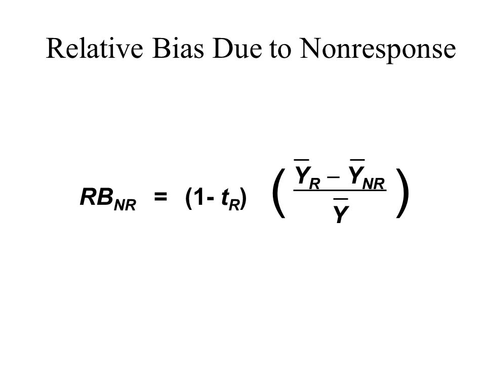 Relative Bias Due to Nonresponse