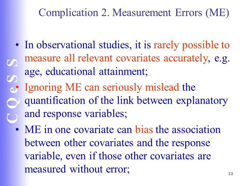 Complication 2. Measurement Errors (ME)