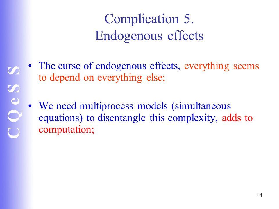 Complication 5. Endogenous effects