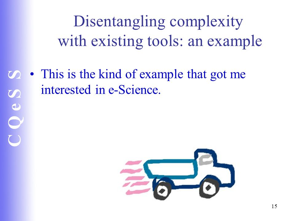 Disentangling complexity with existing tools: an example