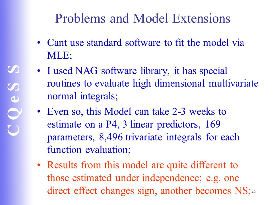 Problems and Model Extensions