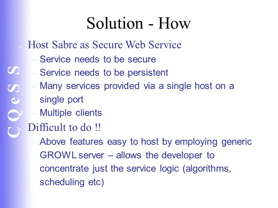 Solution - How Host Sabre as Secure Web Service Difficult to do !!