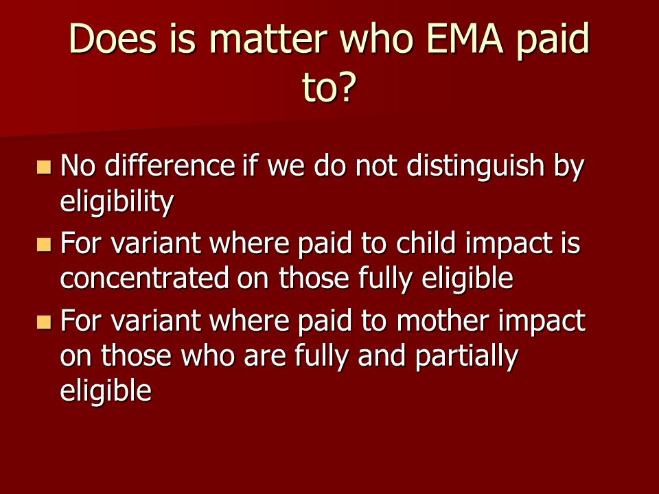 Does is matter who EMA paid to