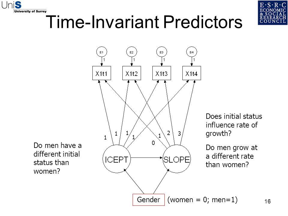 Time-Invariant Predictors