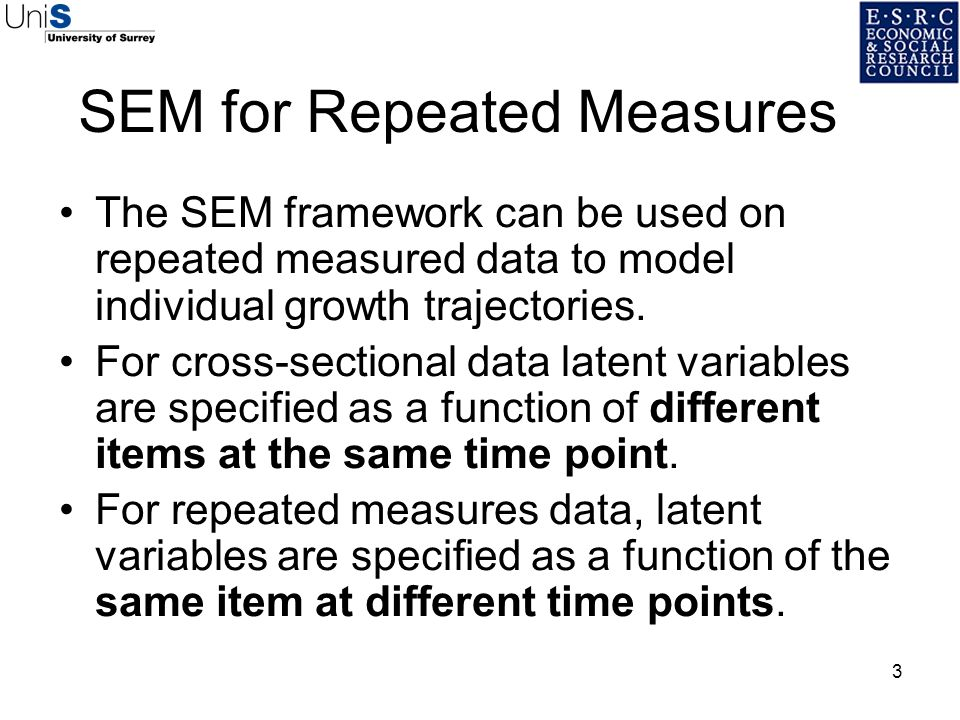 SEM for Repeated Measures