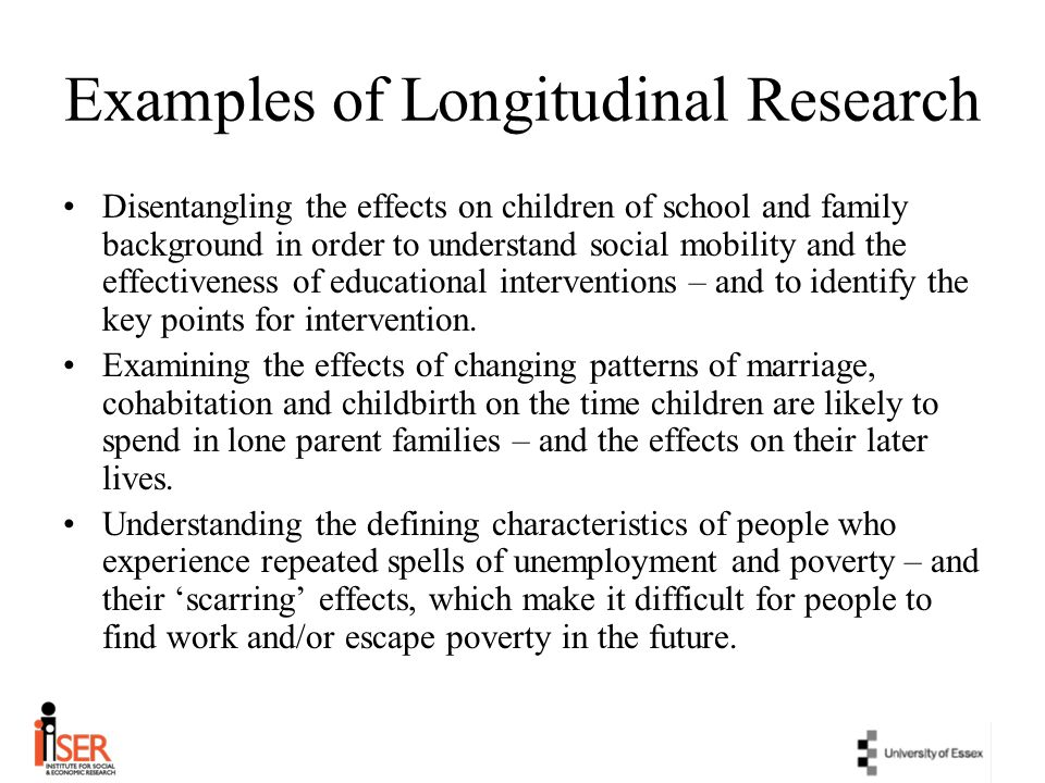 Examples of Longitudinal Research