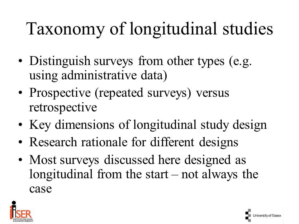 Taxonomy of longitudinal studies