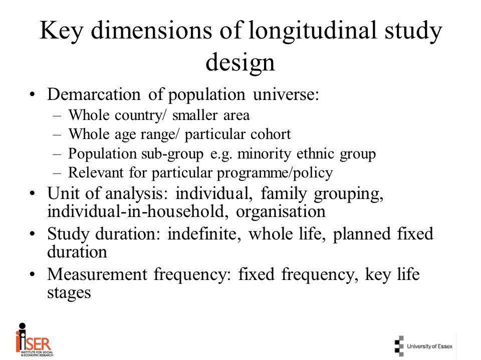 Key dimensions of longitudinal study design