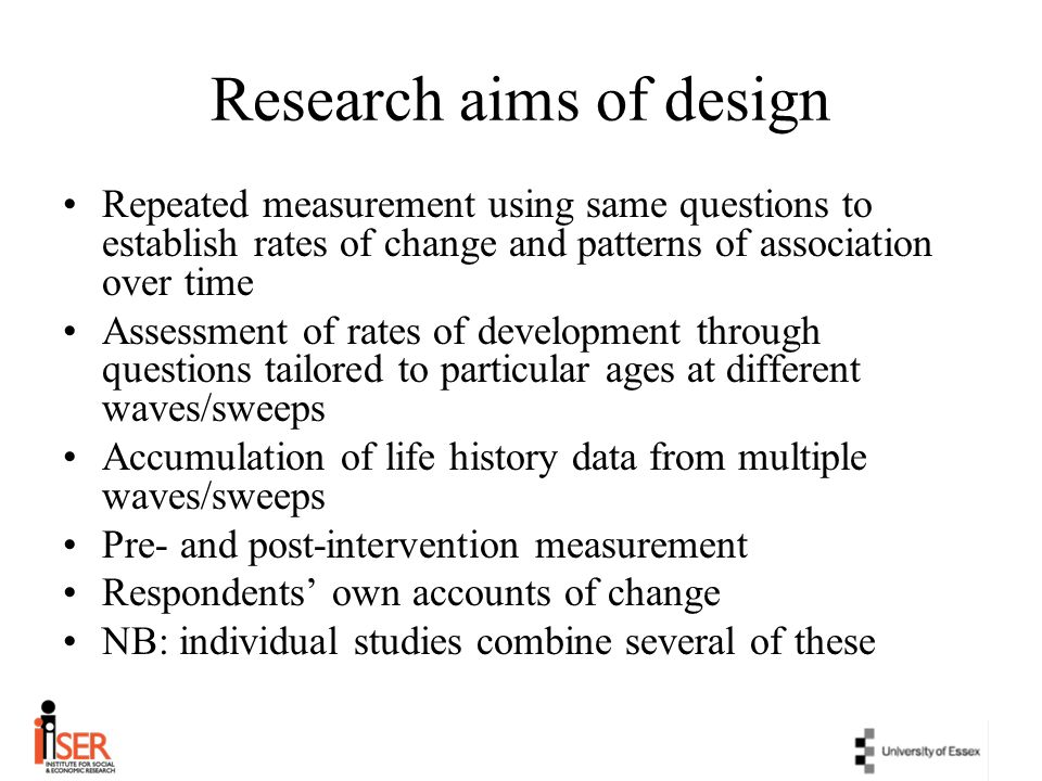 Research aims of design