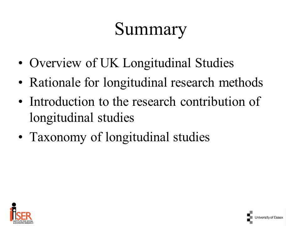Summary Overview of UK Longitudinal Studies