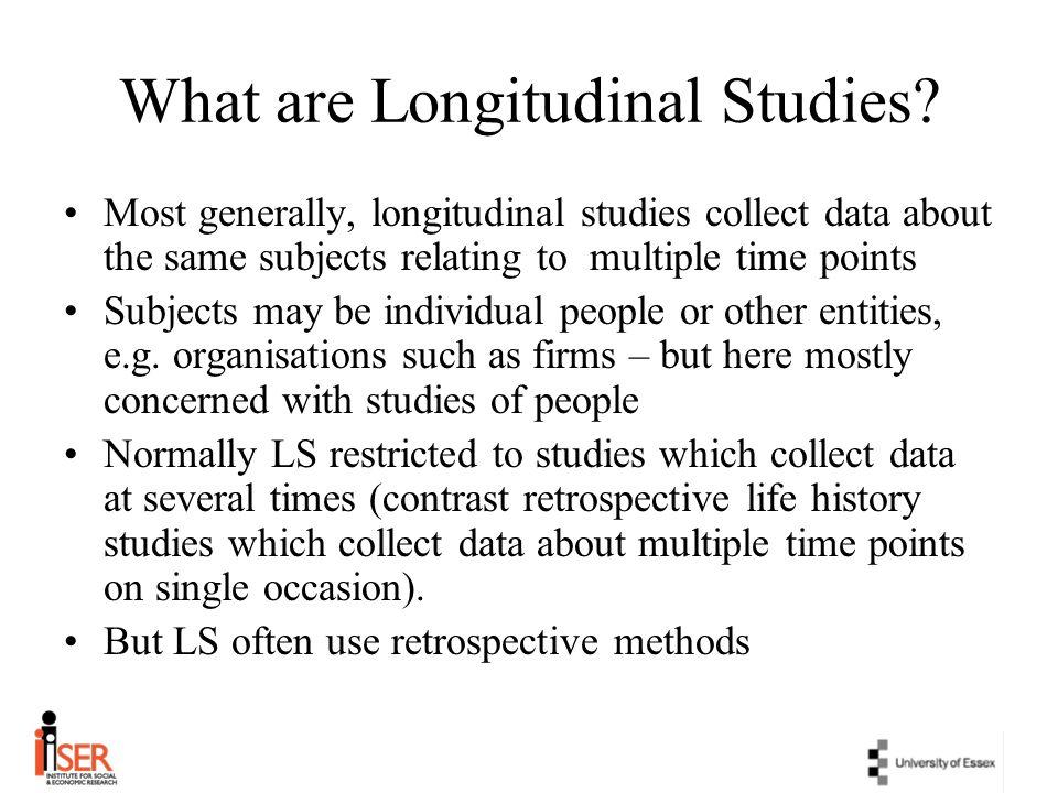 What are Longitudinal Studies