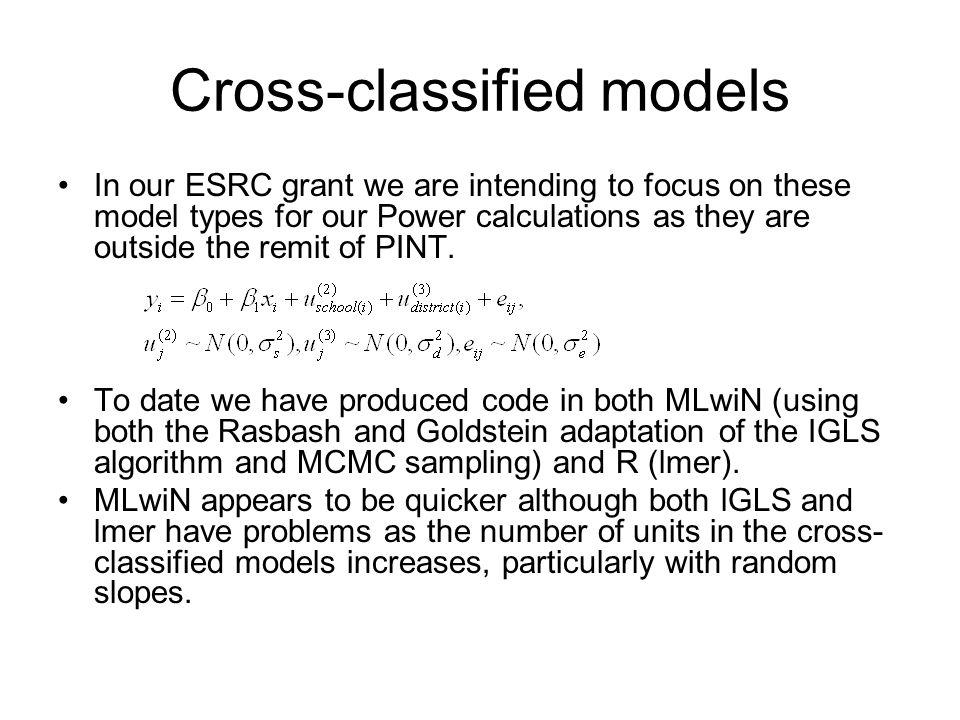 Cross-classified models