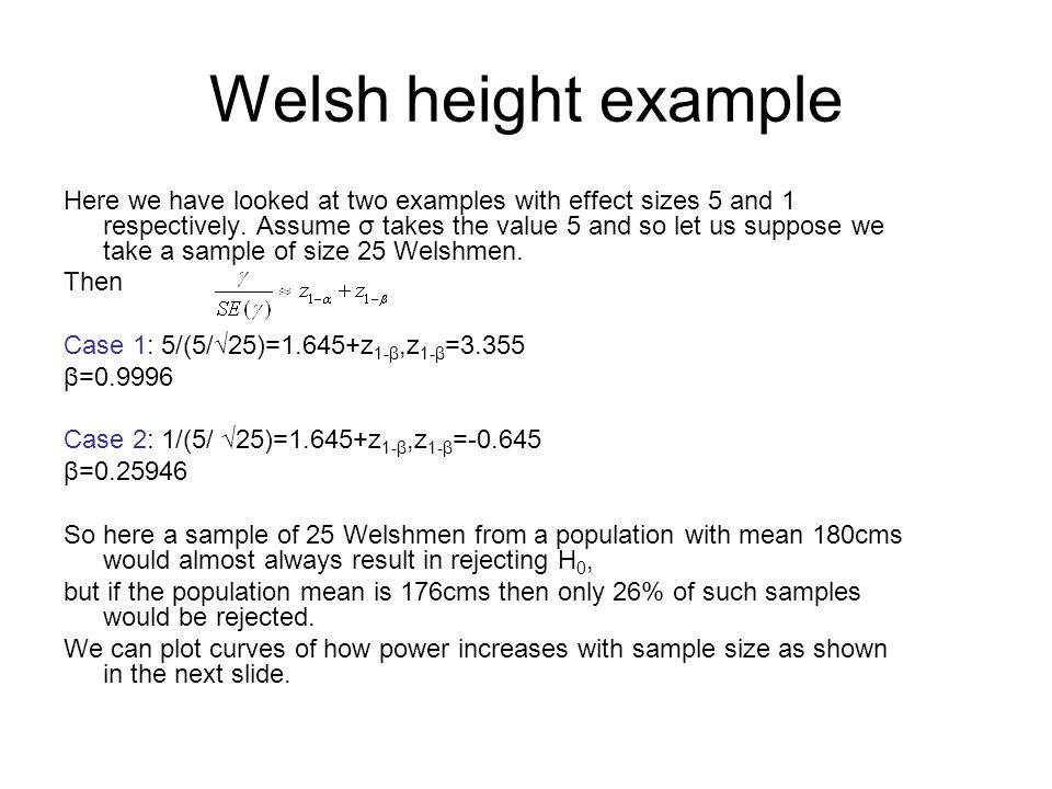 Welsh height example