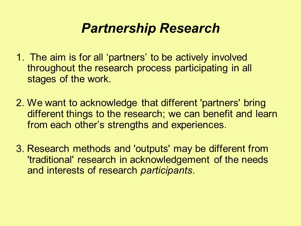 Partnership Research