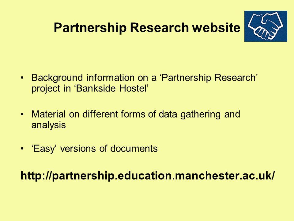Partnership Research website