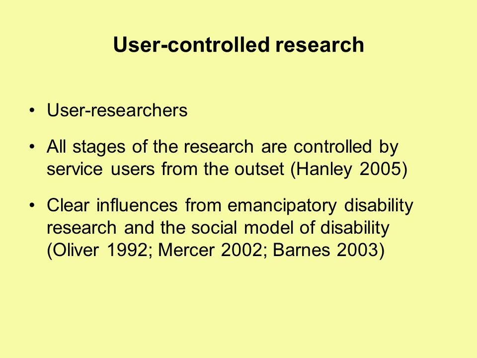 User-controlled research