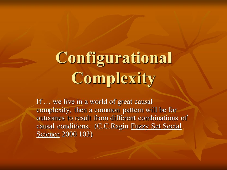 Configurational Complexity