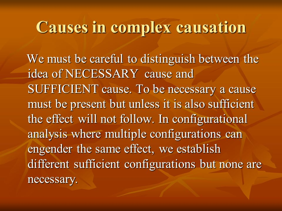 Causes in complex causation