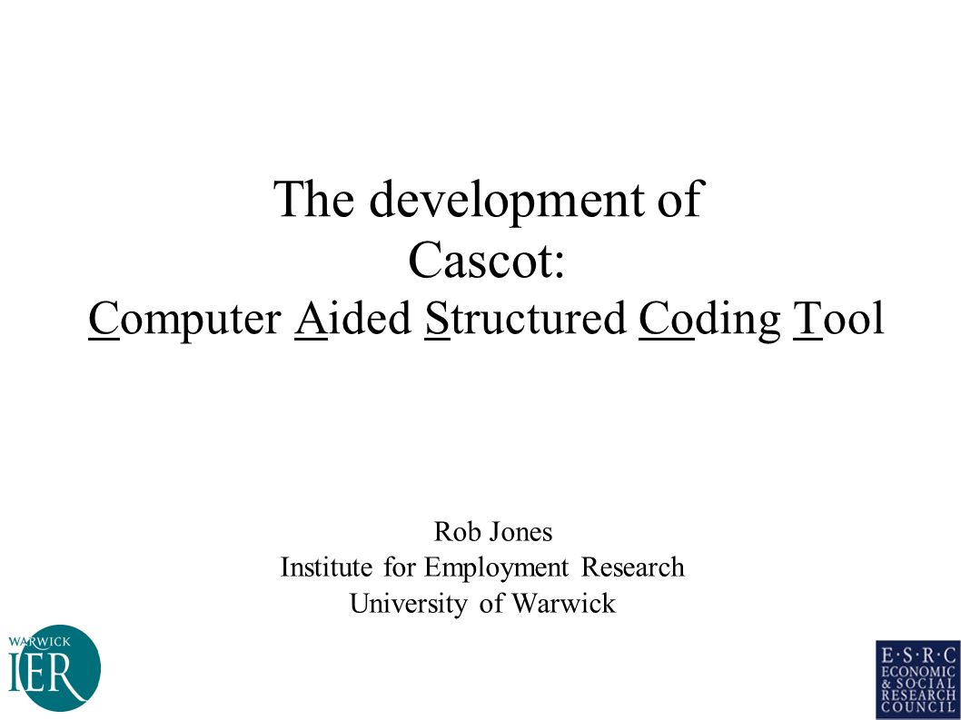 The development of Cascot: Computer Aided Structured Coding Tool