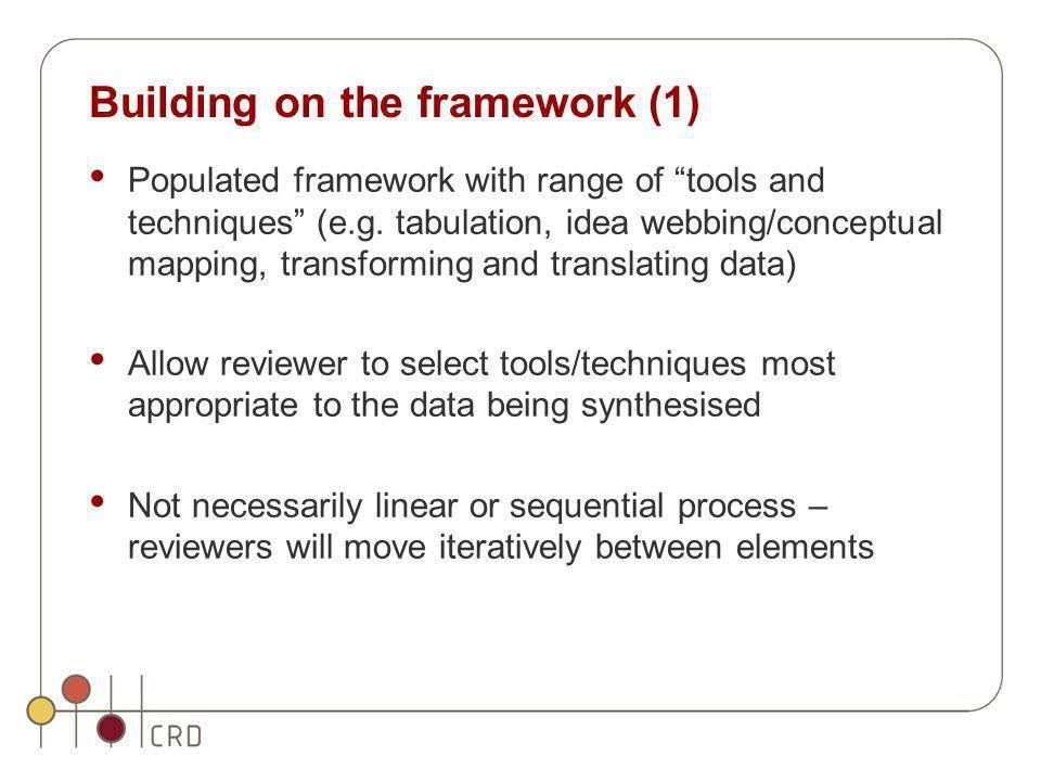 Building on the framework (1)