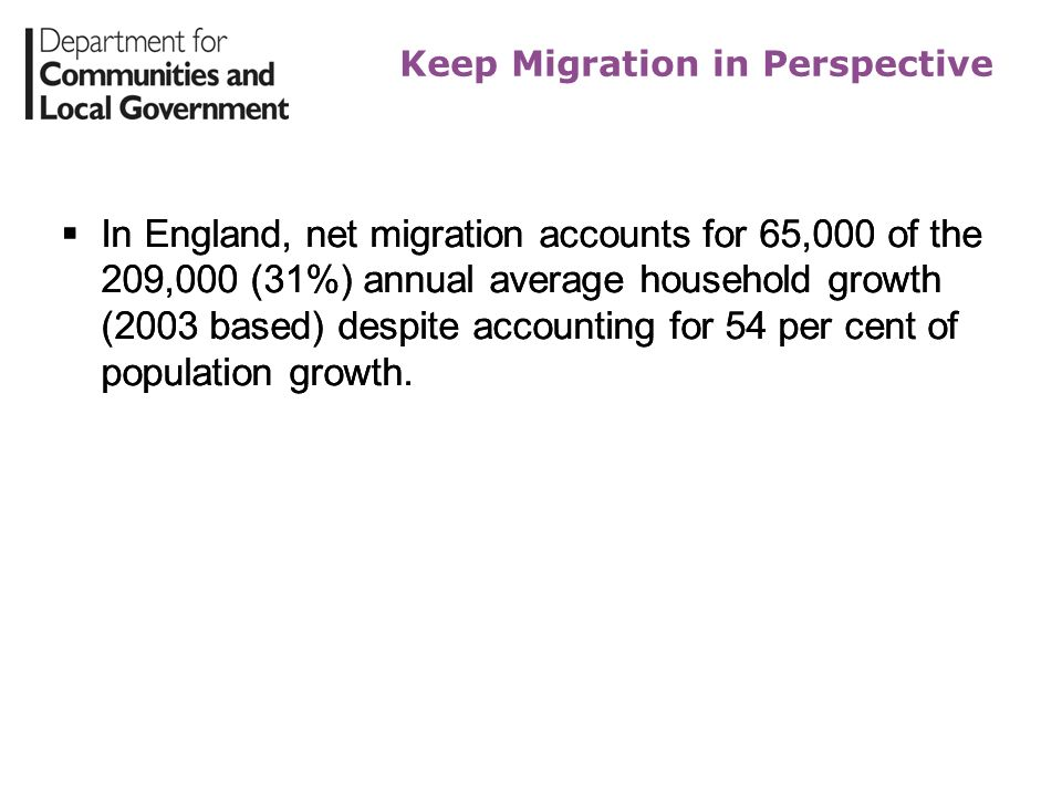 Keep Migration in Perspective