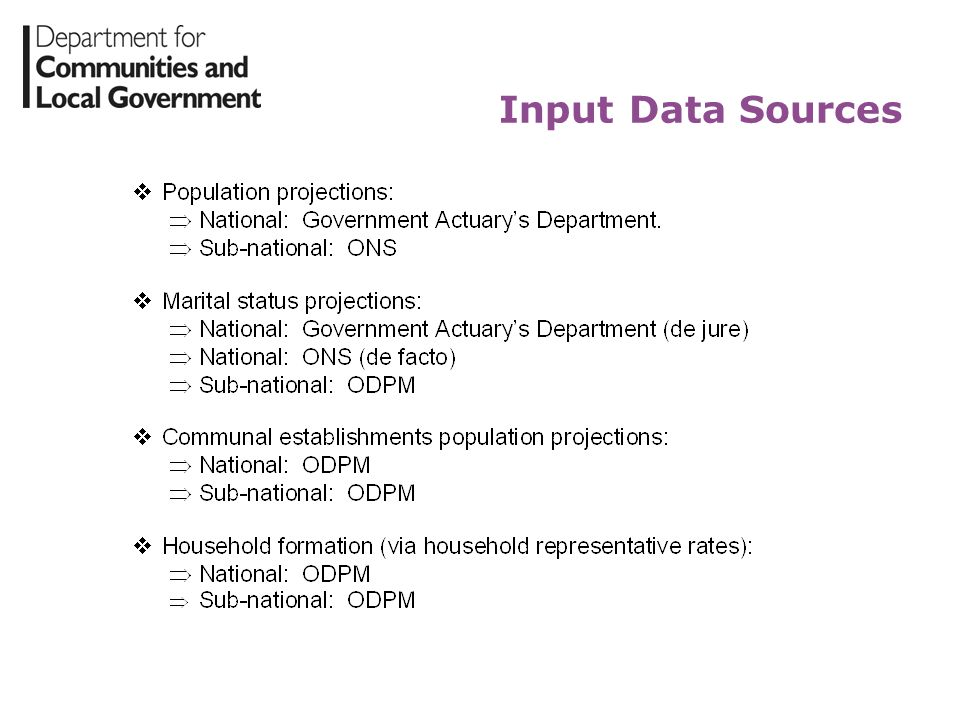 Input Data Sources
