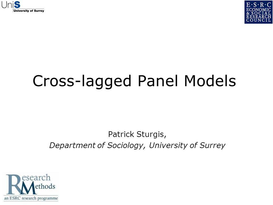 Cross-lagged Panel Models