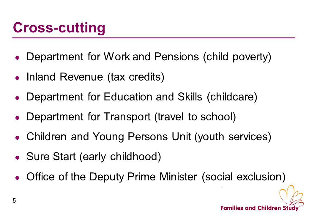 Cross-cutting Department for Work and Pensions (child poverty)