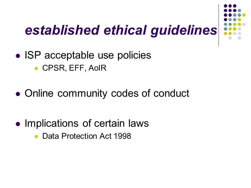 established ethical guidelines