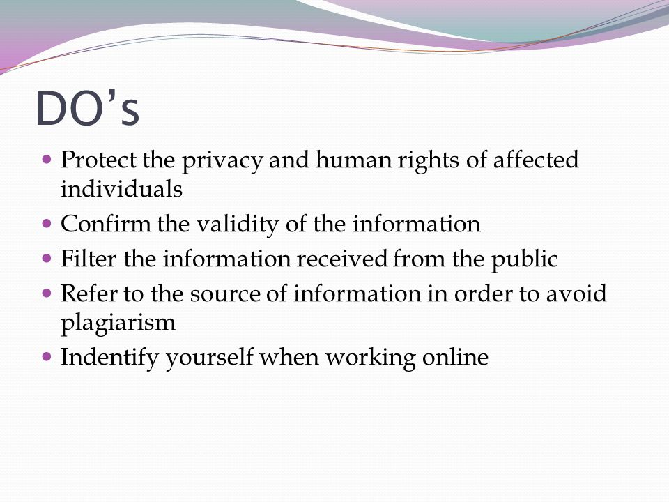 protecting the privacy of individuals on the Using security software on your computer is one of the simplest ways to protect yourself and your privacy good computer security includes installing reputable anti-spyware, anti-virus scanners and firewall software.