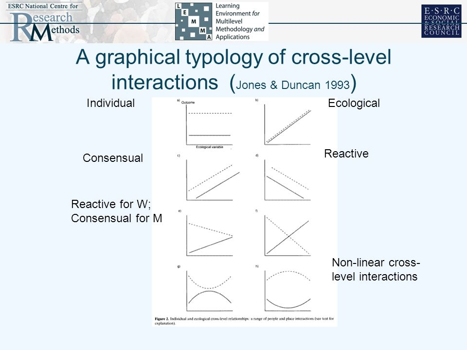 A graphical typology of cross-level interactions (Jones & Duncan 1993)