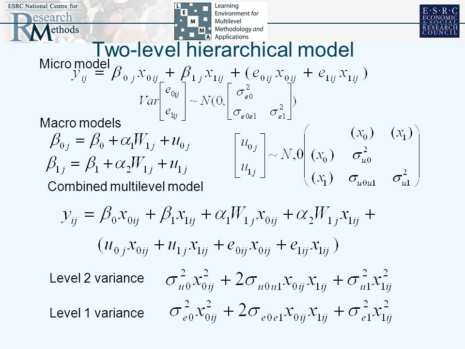 Two-level hierarchical model