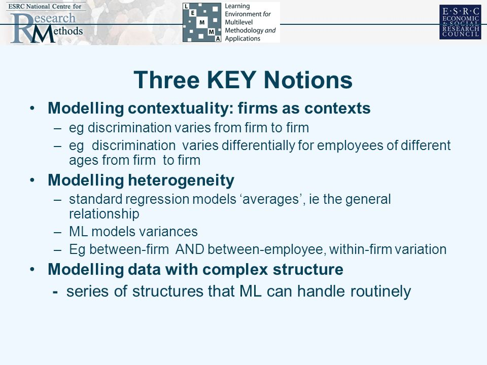 Three KEY Notions Modelling contextuality: firms as contexts