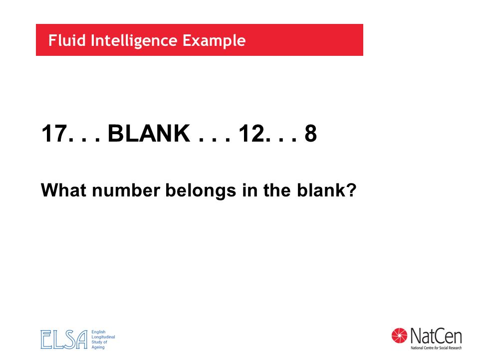 Fluid Intelligence Example