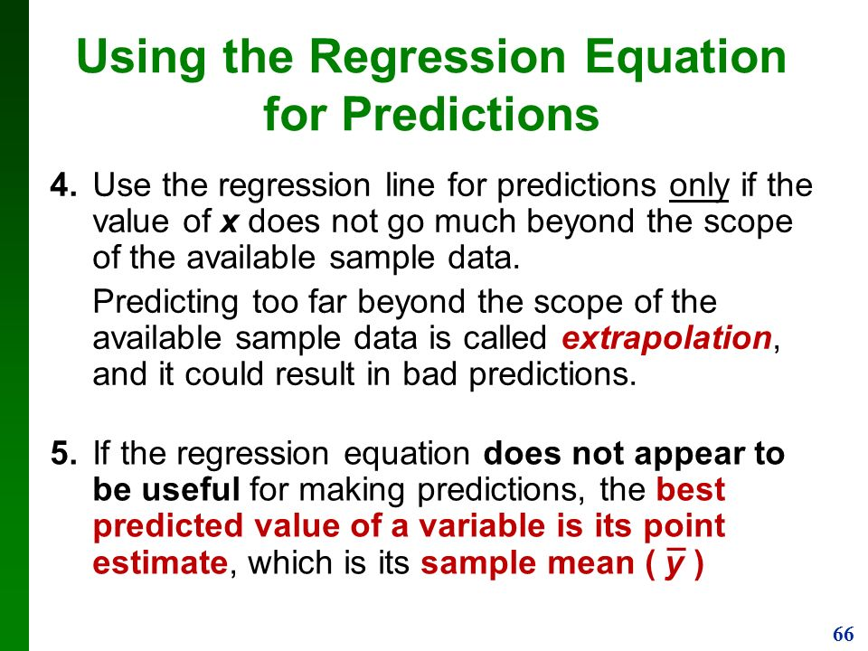 how to find predictions regression