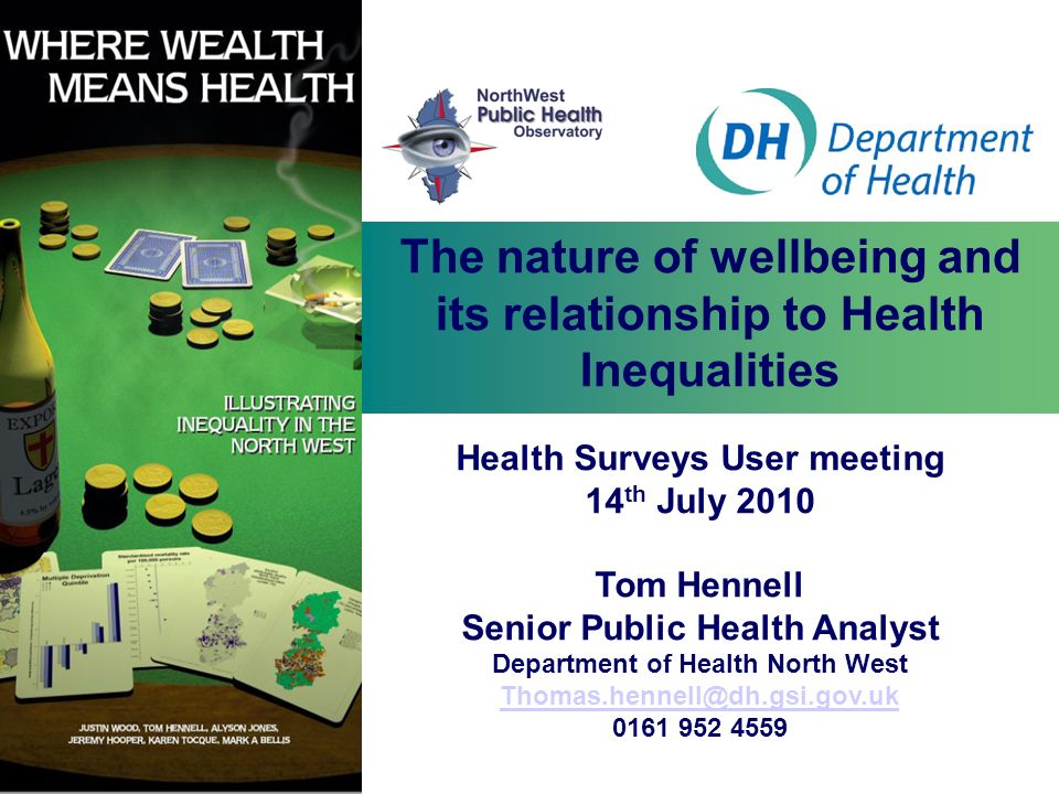 The nature of wellbeing and its relationship to Health Inequalities