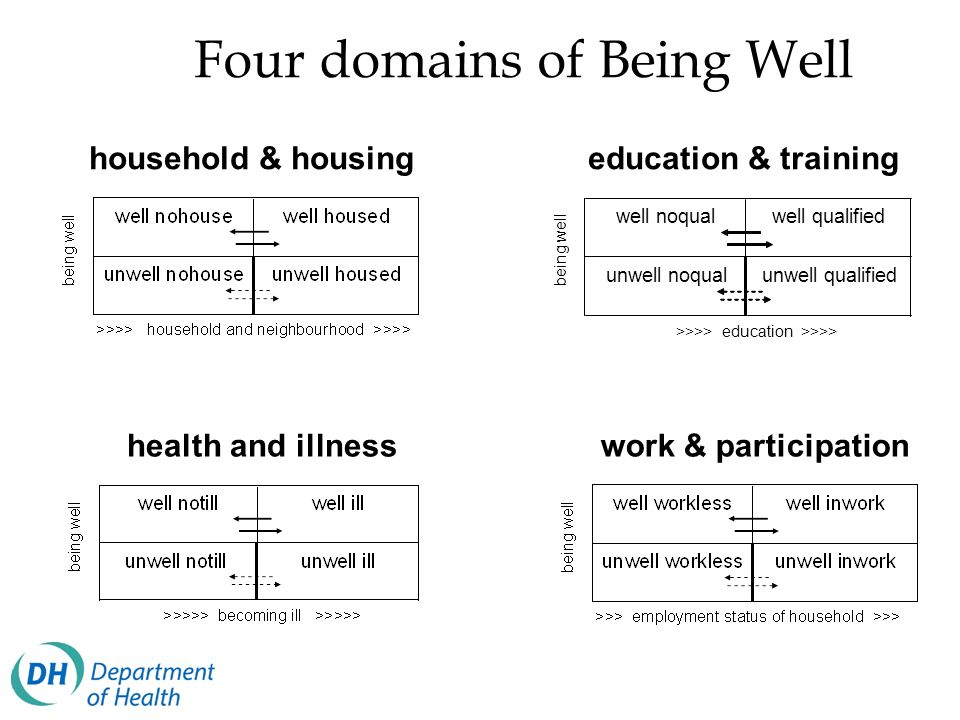 Four domains of Being Well