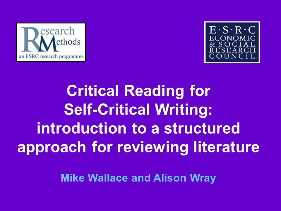 Self-Critical Writing: