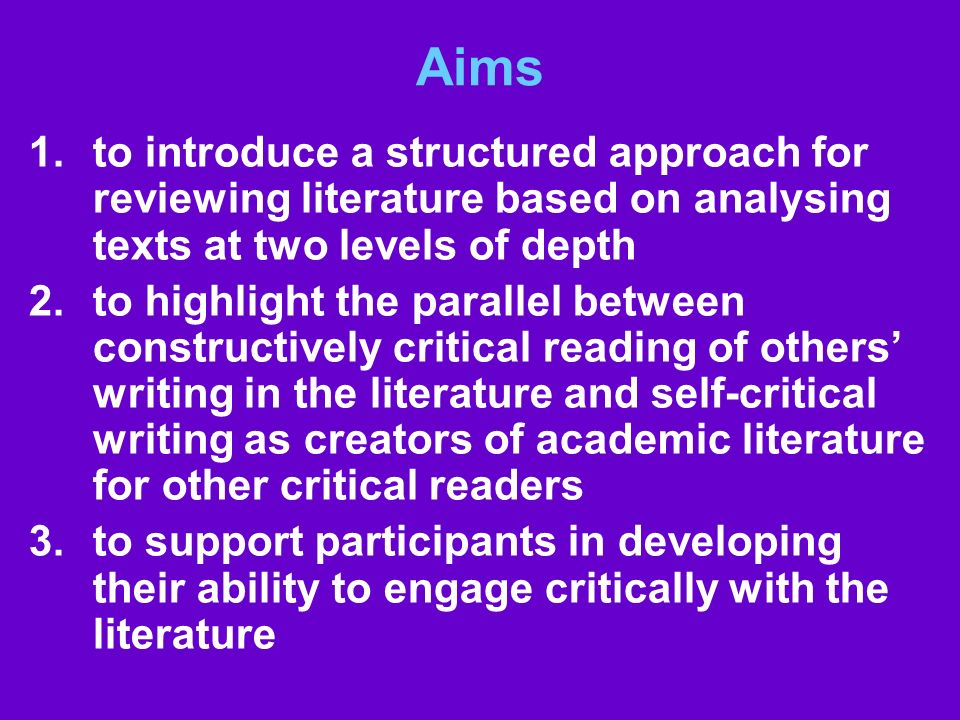 Aims to introduce a structured approach for reviewing literature based on analysing texts at two levels of depth.