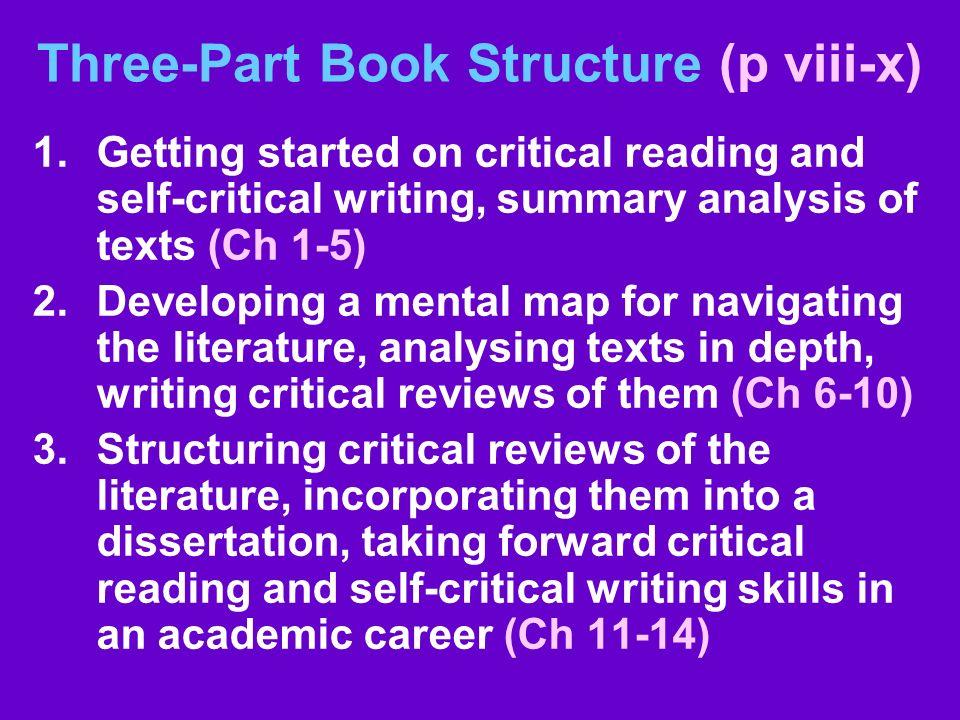 Three-Part Book Structure (p viii-x)