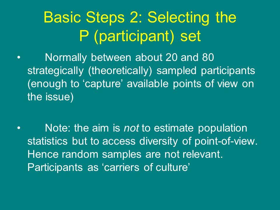 Basic Steps 2: Selecting the P (participant) set