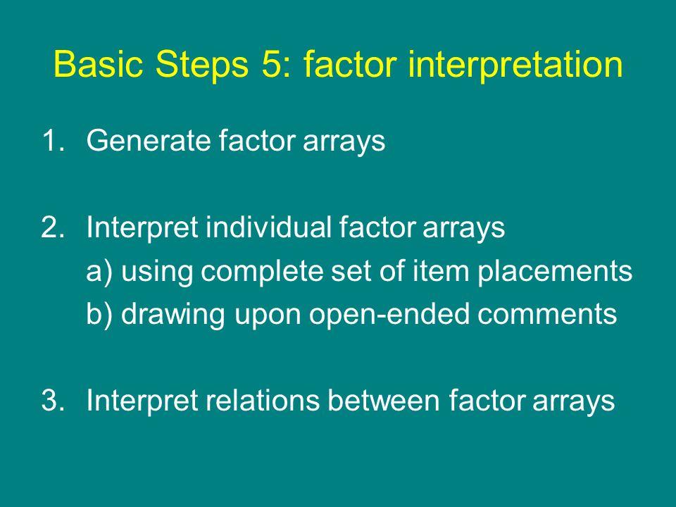Basic Steps 5: factor interpretation