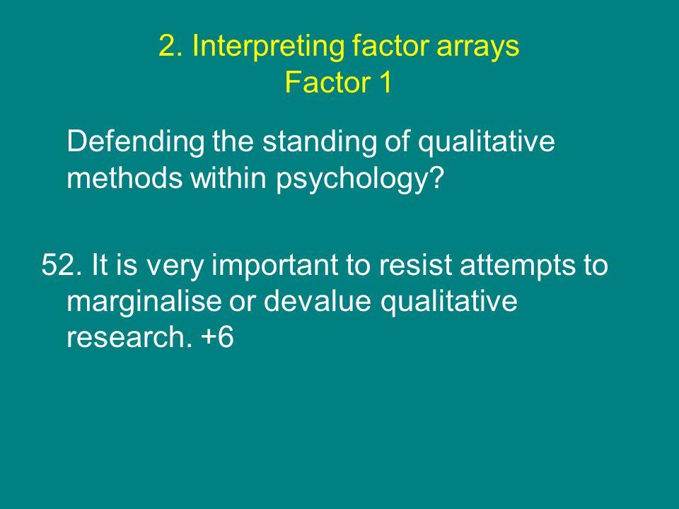 2. Interpreting factor arrays Factor 1