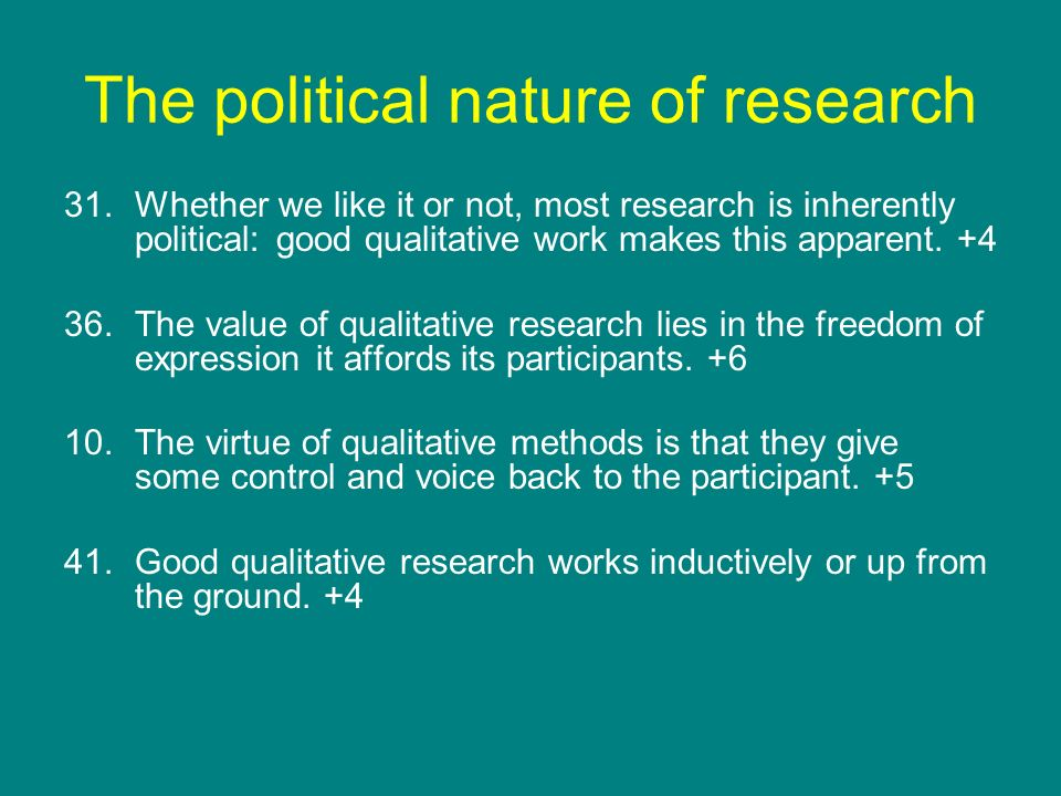 The political nature of research