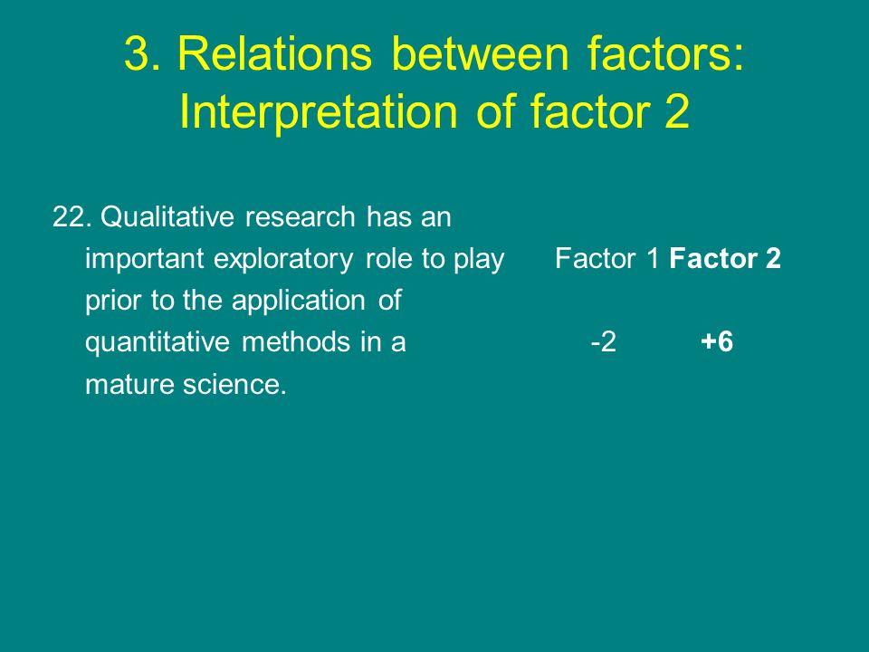 3. Relations between factors: Interpretation of factor 2