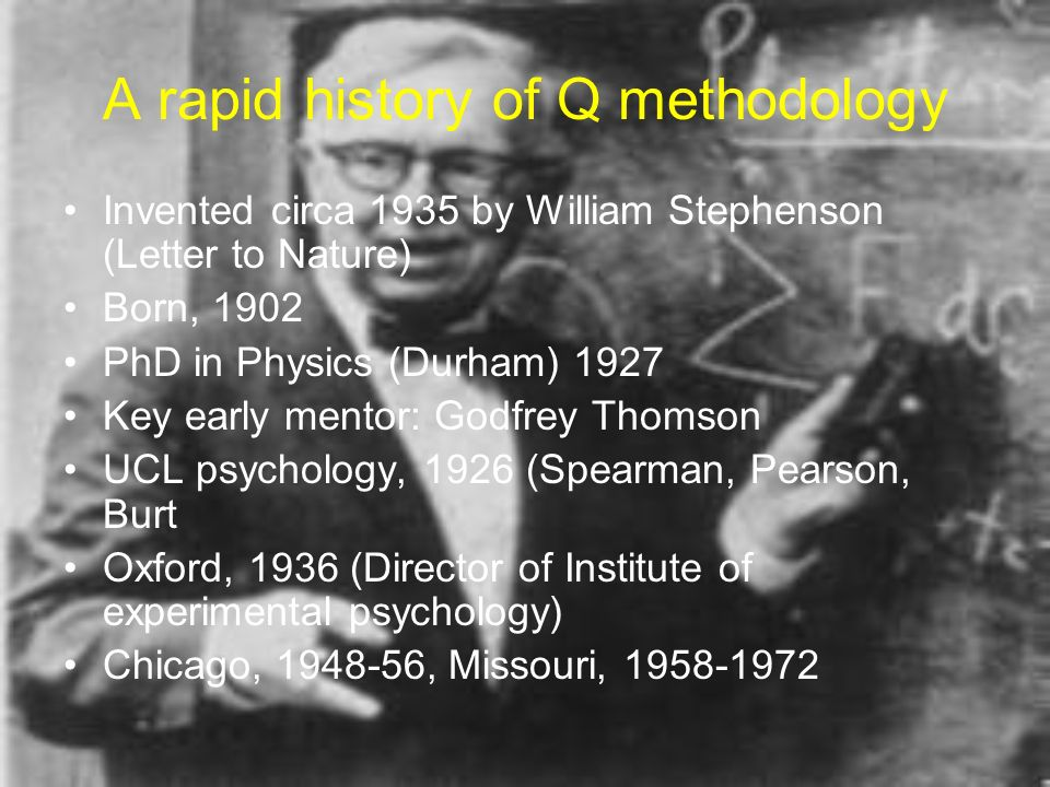 A rapid history of Q methodology