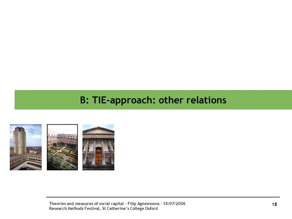 B: TIE-approach: other relations