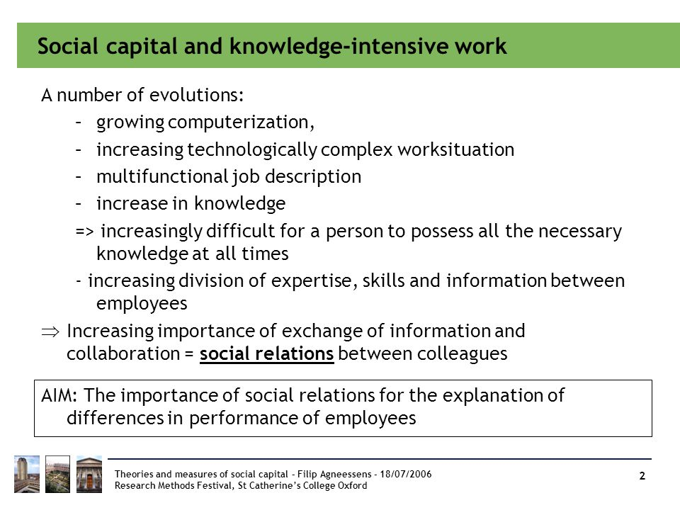 Social capital and knowledge-intensive work