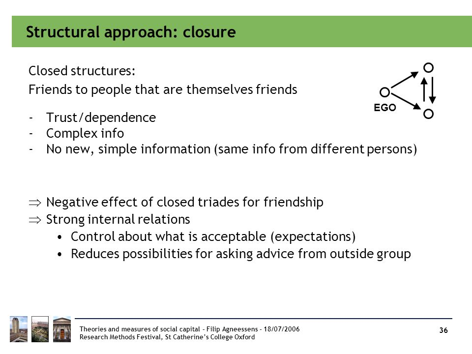 Structural approach: closure